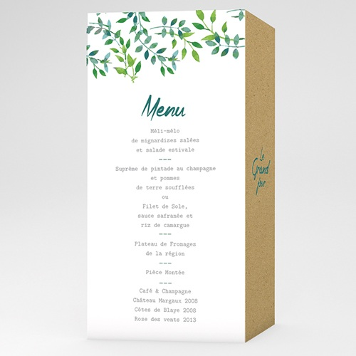 Menu de Mariage - Nature & Kraft 60103 thumb
