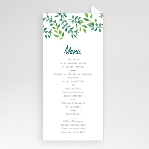 Menu de Mariage - Nature & Kraft 60104 thumb