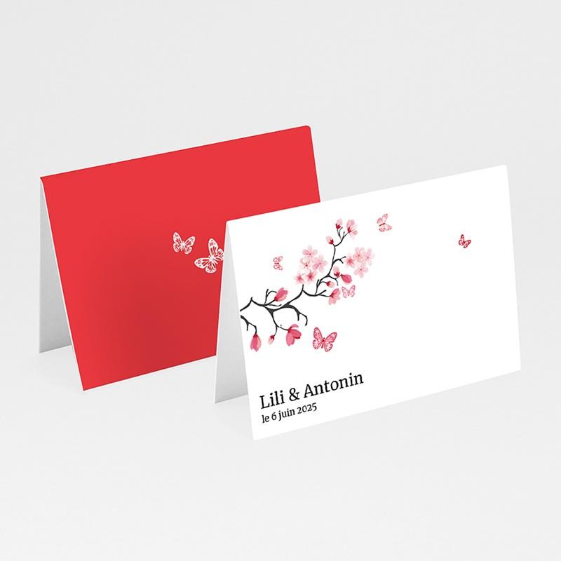 Marque Place Mariage Personnalisés Papillons d'amour