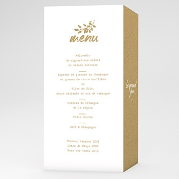 Menu de Mariage - Nature White Kraft - 0