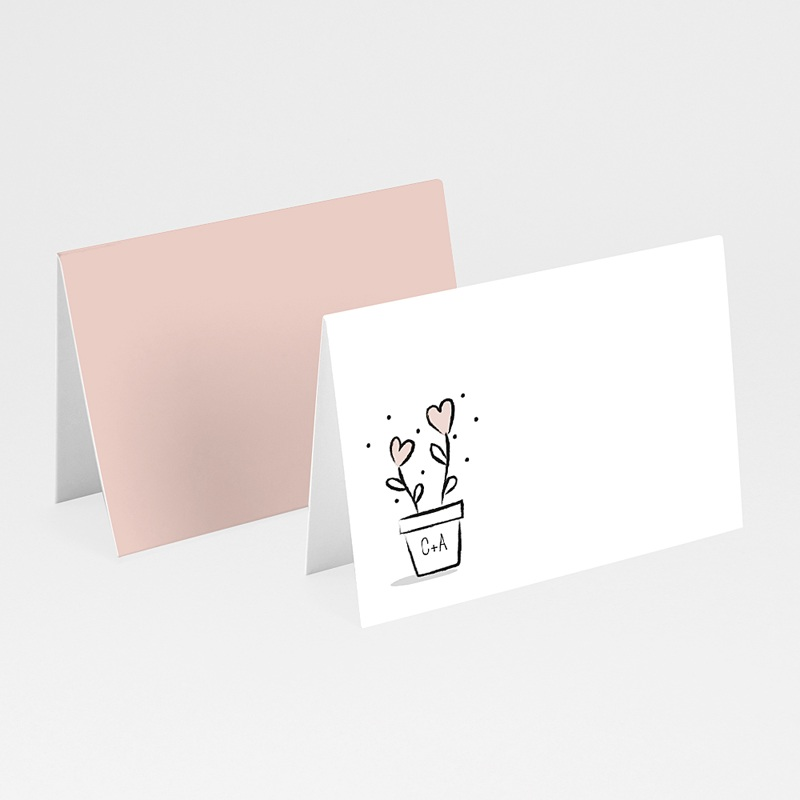 Marque Place Mariage 2 coeurs