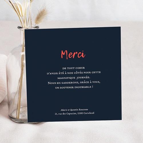 Carte Remerciement Mariage Photo So Chic pas cher