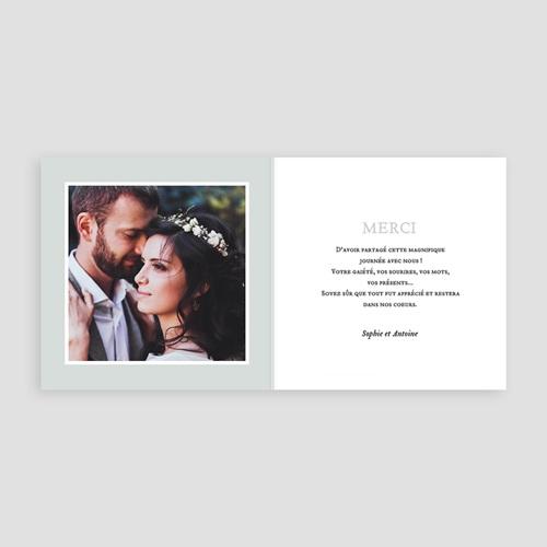 Carte Remerciement Mariage Photo Anémones pas cher