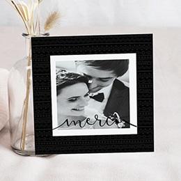 Carte remerciement mariage photo Ethnique et Kraft