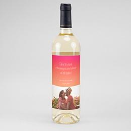 Etiquette bouteille mariage Flambloyant