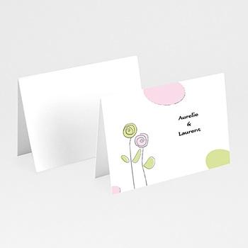 Acheter marque place mariage personnalisés pastel