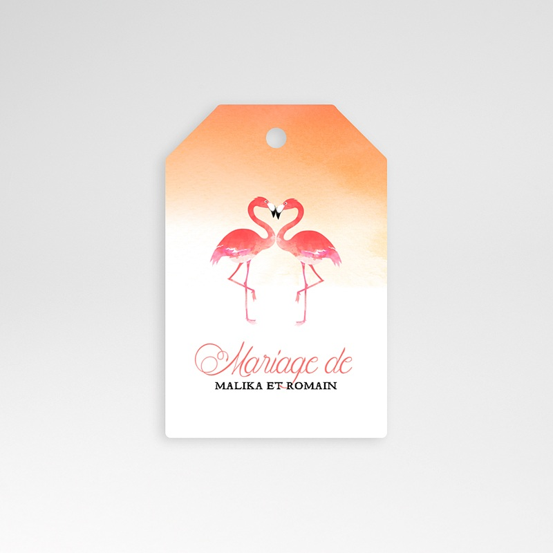 Etiquette Cadeau Mariage Flambloyant