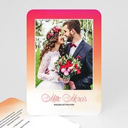 Carte remerciement mariage photo Flambloyant