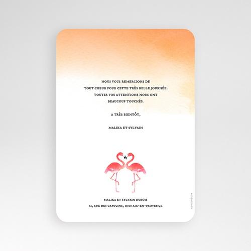 Carte remerciement mariage photo Flambloyant pas cher