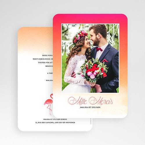 Carte remerciement mariage photo Flambloyant gratuit