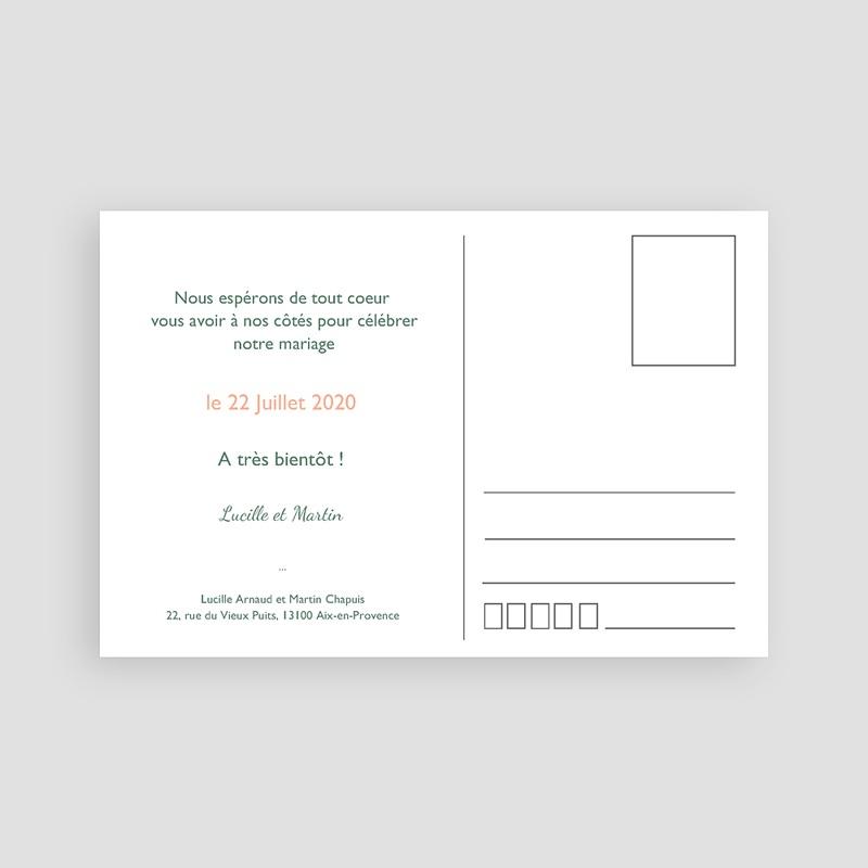 Save the date mariage Sous la tonnelle pas cher