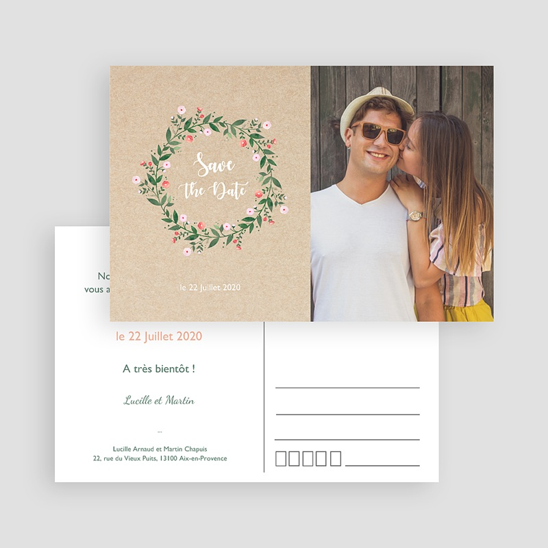 Save the date mariage Sous la tonnelle gratuit