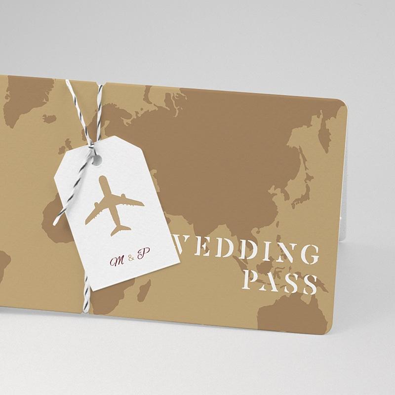 Faire-Part Mariage Voyage Wedding Pass carte embarquement avion pas cher