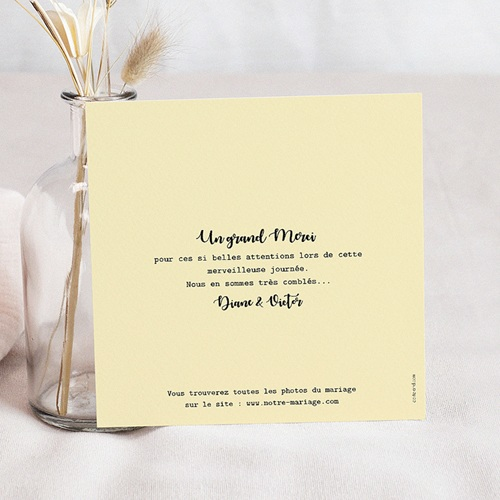 Carte Remerciement Mariage Créatif Rayures & Jaune pas cher