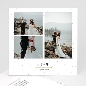 Remerciement mariage photo - Constellation - 0