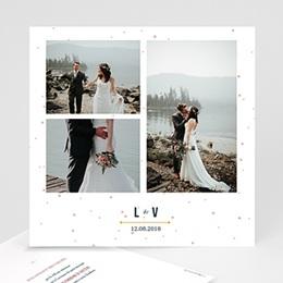 Carte remerciement mariage photo Constellation