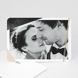 Carte remerciement mariage photo Minéral