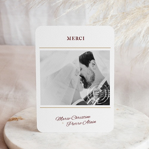 Carte Remerciement Mariage Photo Wedding Pass