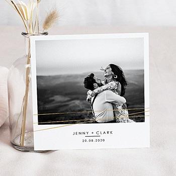 Carte de remerciement mariage photo Minimaliste Chic