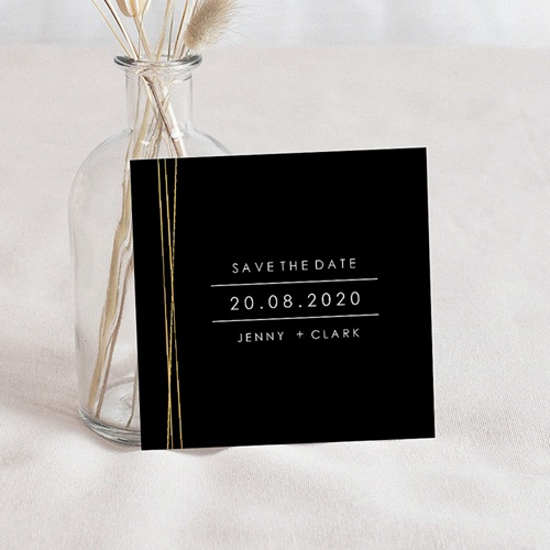 Save The Date Mariage Minimaliste Chic