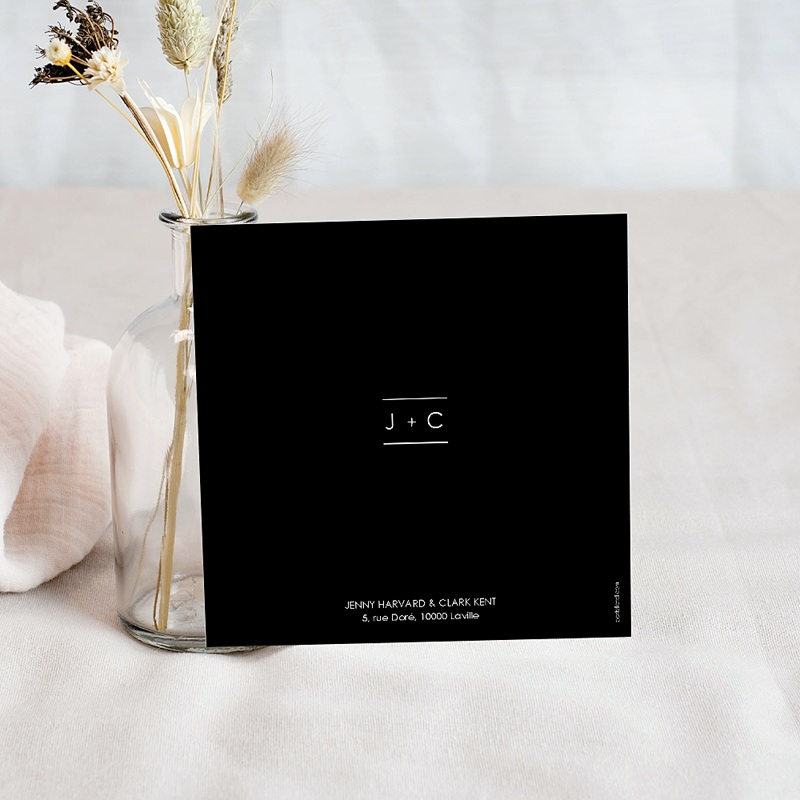Save The Date Mariage Minimaliste Chic pas cher