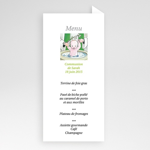 Menu de Baptême - Immersion au Menu 6050 thumb