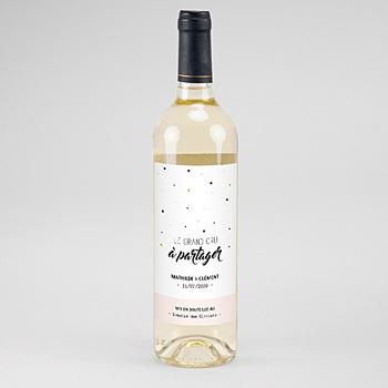Étiquette bouteille mariage - Le grand Jour - 0
