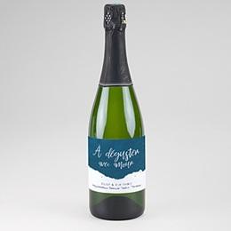 Etiquette bouteille mariage L'or bleu