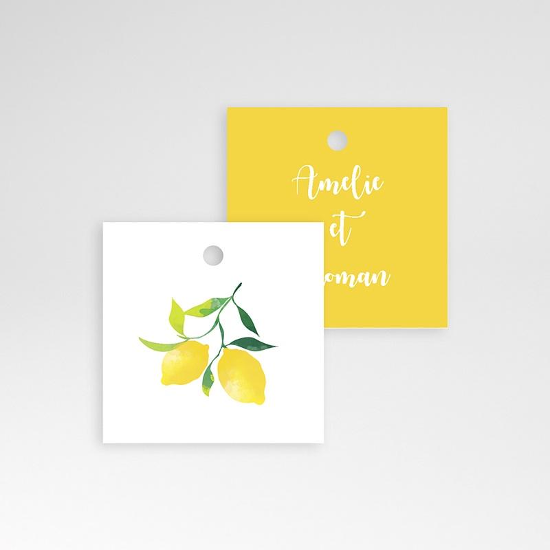Etiquette Cadeau Mariage Parfum d'agrumes pas cher