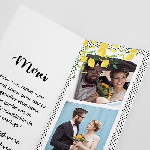 Carte remerciement mariage créatif Parfum d'agrumes pas cher