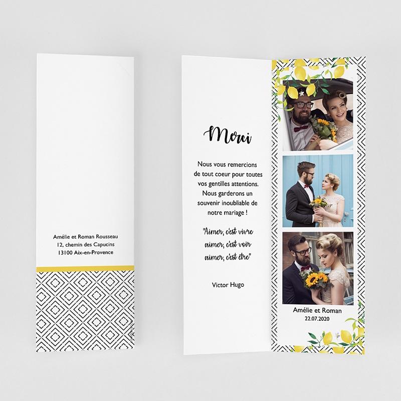 Carte remerciement mariage créatif Parfum d'agrumes gratuit