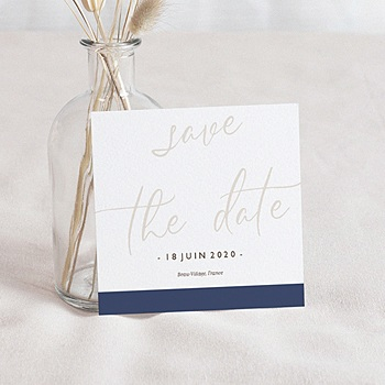 Achat save the date mariage blue color touch