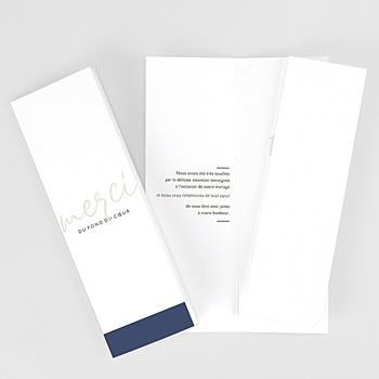 Carte remerciement mariage photo blue color touch personnalisé