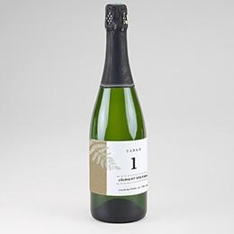 Etiquette bouteille mariage Verdoyant