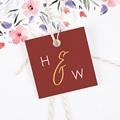 Etiquette mariage Or & Bordeaux gratuit