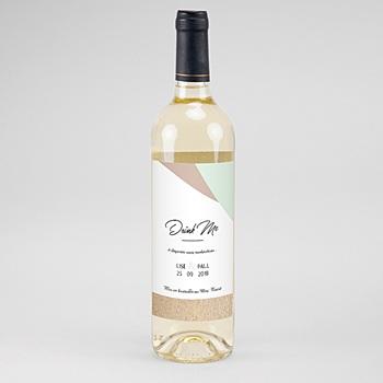 Étiquette bouteille mariage - Bois & Pastel - 0