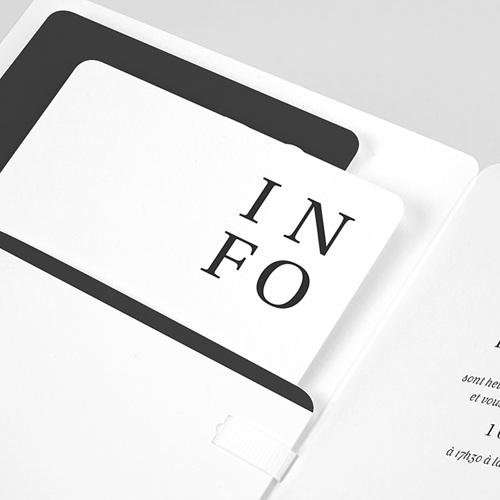 Faire-Part Mariage Carré Typographique pas cher