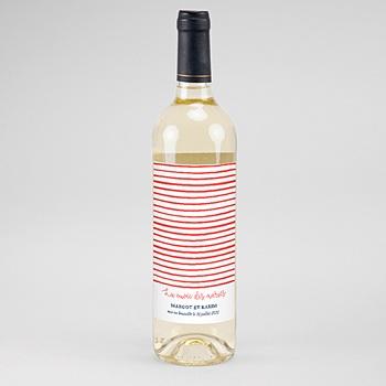 Etiquette bouteille mariage so french personnalisé