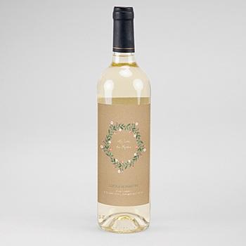 Étiquette bouteille mariage - Sous la tonnelle - 0