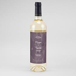 Etiquette bouteille mariage Boho Lie de Vin