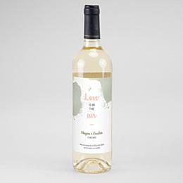 Étiquette bouteille mariage Boho Olive