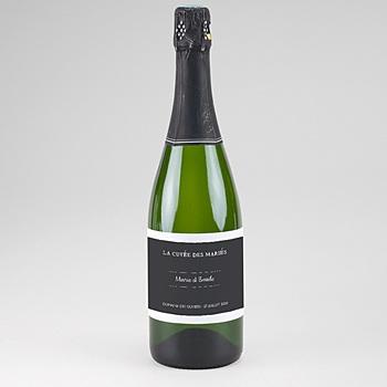 Etiquette bouteille mariage Moisson d'Automne