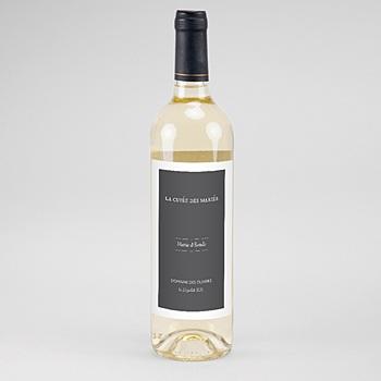 Etiquette bouteille mariage Moisson d'Automne personnalisable
