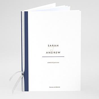 Livrets de Messe Mariage - Blue Color Touch - 0