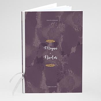 Livrets de Messe Mariage - Boho Lie de Vin - 0