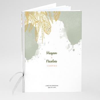 Livrets de Messe Mariage - Boho Olive - 0