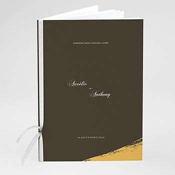 Livrets de Messe Mariage - Brush Doré - 0