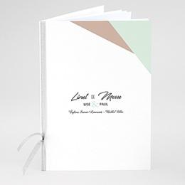 Livret messe mariage Bois & Pastel