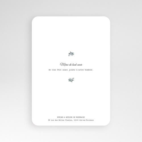 Remerciement mariage classique - Bleu botanique 60818 thumb