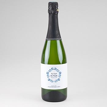 Etiquette bouteille champagne accents méditerranéens pas cher
